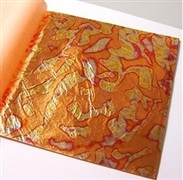 Variegated metal leaf booklets